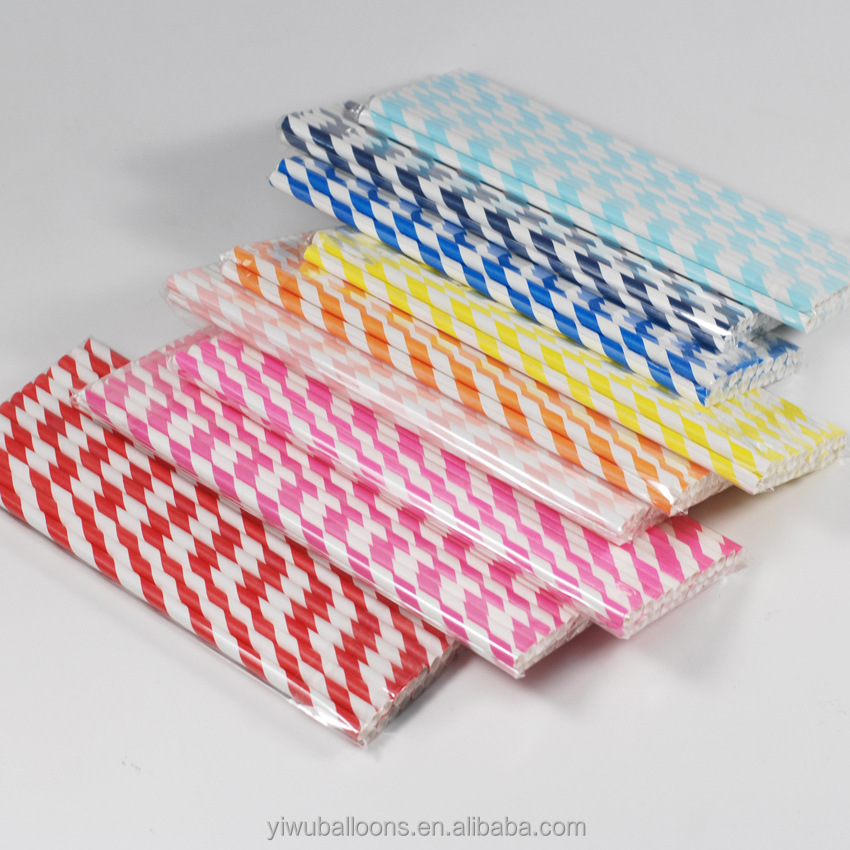 Wholesale party decoration happy birthday childre customize party supplies paper straws