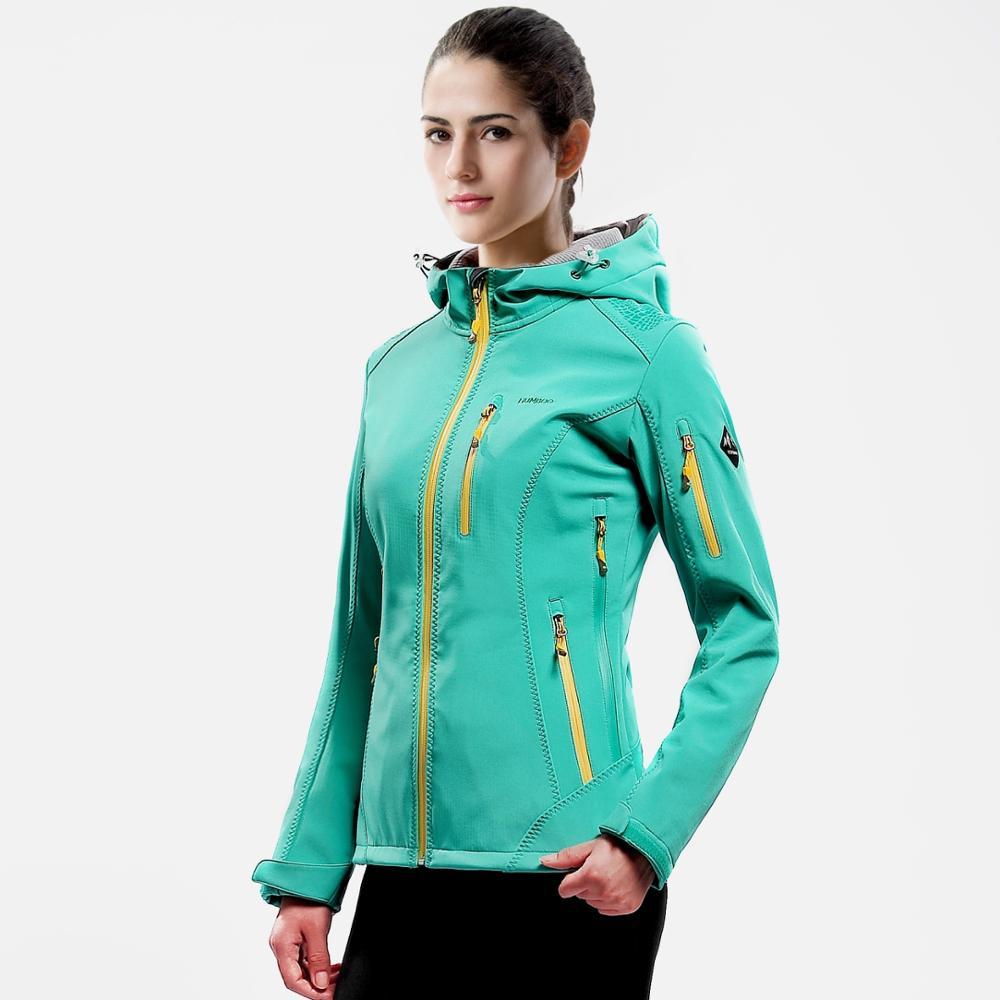 Women's Windbreaker Hooded Waterproof Outdoor Jacket Soft Shell Jacket, Yellow;purple;rose;mint blue