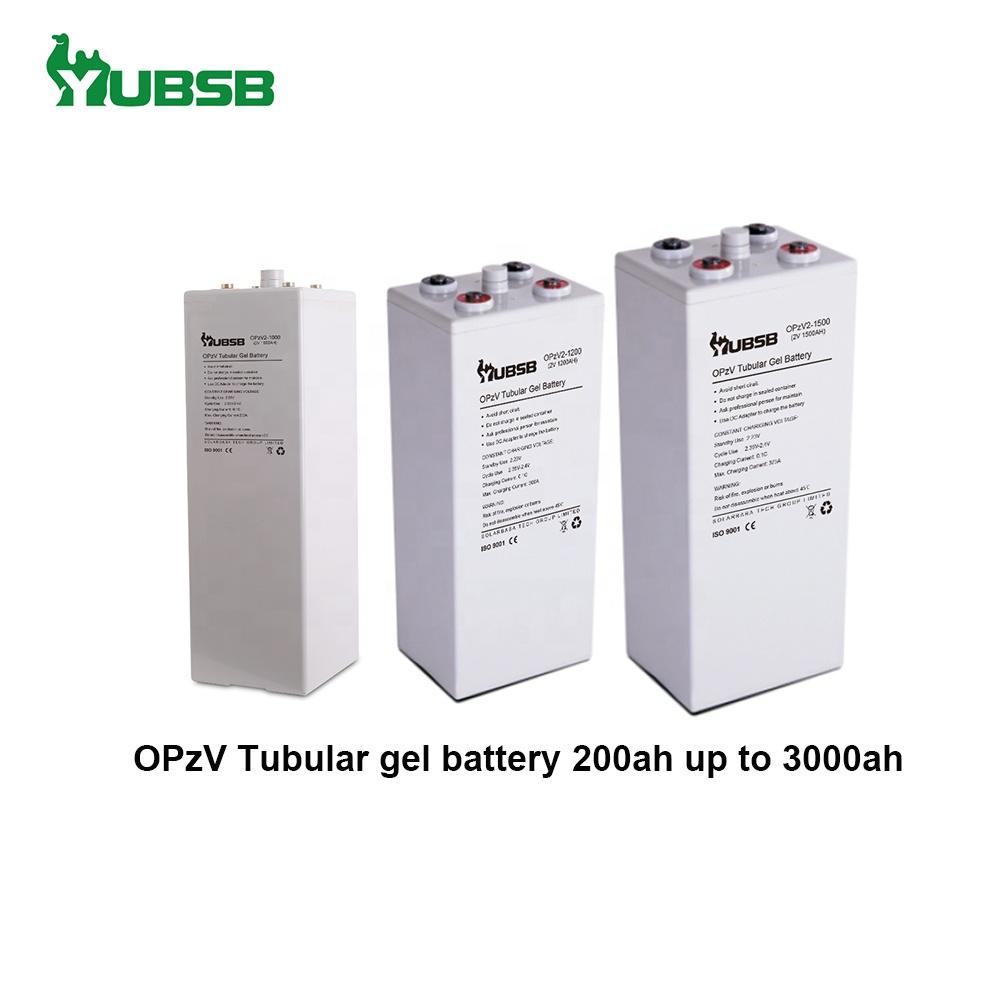 Storage deep cycle li-ion 2v 1000 ah 1200ah opzv gel tubular plate battery