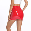 2019 Summer Multi Color Hot Sexy Lady Leather Skirt Shiny PU Mini Tight Skirt Women Wrap Skirt