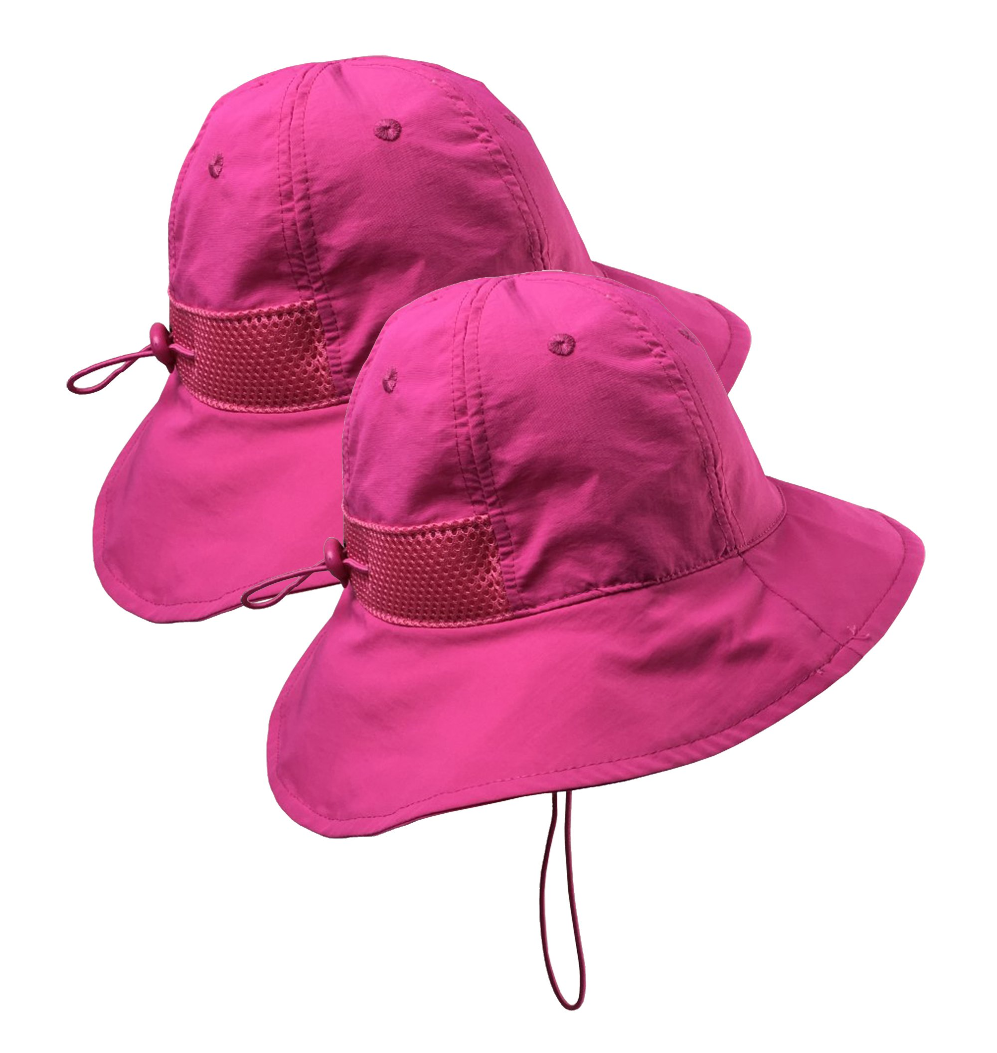 56abd4db Get Quotations · N'Ice Caps Kids and Baby SPF 50+ UV Protection Breathable Sun  Hat -