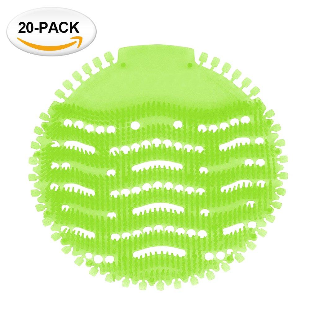 Diversey Power Screen 30 Day Premium Anti-Splash Urinal Screen and Deodorizer Fits Most Top Urinal Brands 8 x 7 Green//Apple 10 Pack