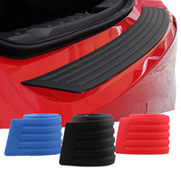 black blue red scratches anti collision elastic car trunk boot 3M self adhesive silicone rear bumper rubber protector