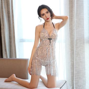 a74389d7b New Sexy Perspective Transparent Gauze Shirt Lingerie Nightwear sexy  transparent nightwear