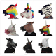Halloween party Latex full face Animal Unicorn horse head mask