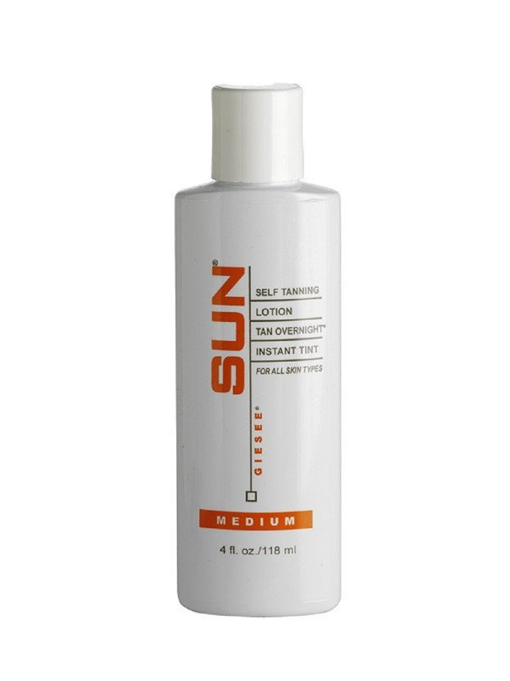Sun Self Tanning Lotion Tan Overnight Instant Tint - Medium - 4 oz.