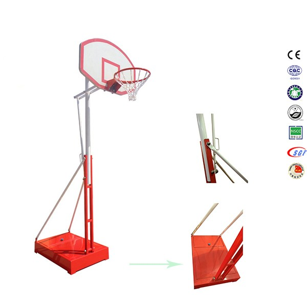 Multi colored basket ball basketball hoops spring with basketball board