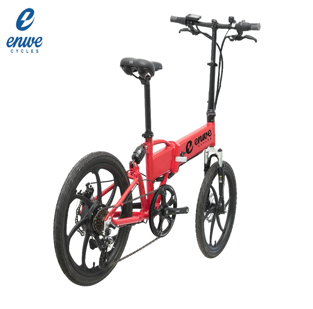 Enwe Ebikes 20 Inch Electric Folding Bike with Hidden Battery Samsung 36V 10.4Ah and CE Certification for Europe Market