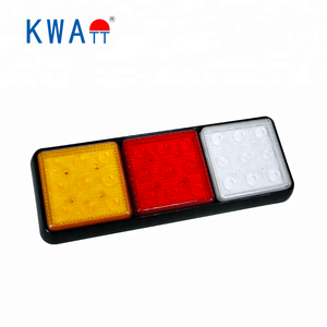 Factory High Quality 12V-24V Rectangle Vehicle 27pcs LED Stop Turn Rear Tail Lights For Truck Trailer Marine With E-Mark