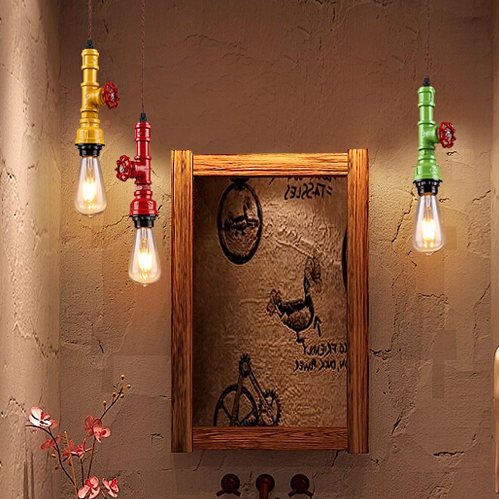 Industria verlichting Edison lamp iron hanglamp-kroonluchters en ...