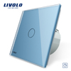 Livolo VL-C701T-19 EU Standard Timer Switch(30s delay) Glass Panel Light Touch Switch