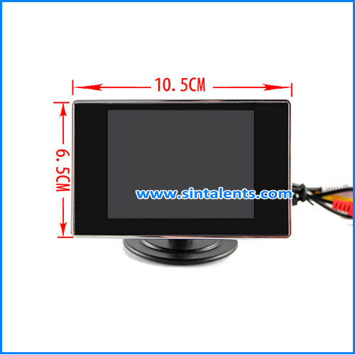 Super 3.5Inch Vehicle LCD Monitor with Motorized Assemble