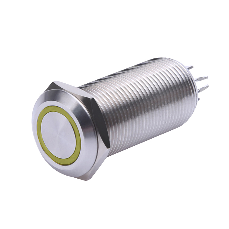 12mm with LED latching push button switch