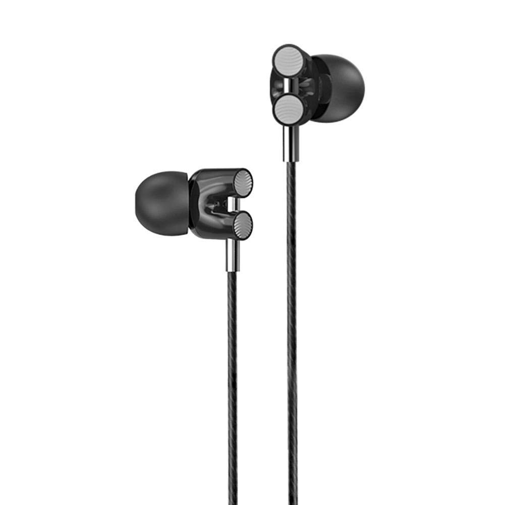 Vanpower 4 Core Dual Moving Coil Earphone in-Ear Sound Insulation Headset with Mic (Silver)