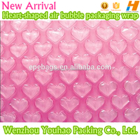 Factory directly sale high quality New Arrival Heart-shaped Air Bubble Packaging Wrap