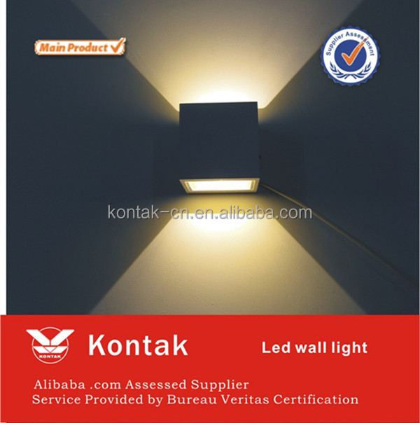 Smart warm white outside wall lights in aluminumn shell made in china