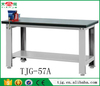 TJG-57A Taiwan Building A Garage Workbench With Rubber Work Table Top And Vice