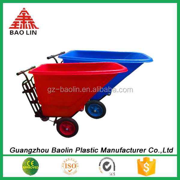 Large plastic weelbarrow China manufacturer blue colour in guangzhou China