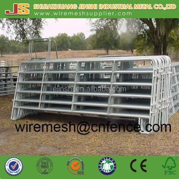 Welded Type Galvanized Steel Frame horse fence cattle fence goat fence and gate