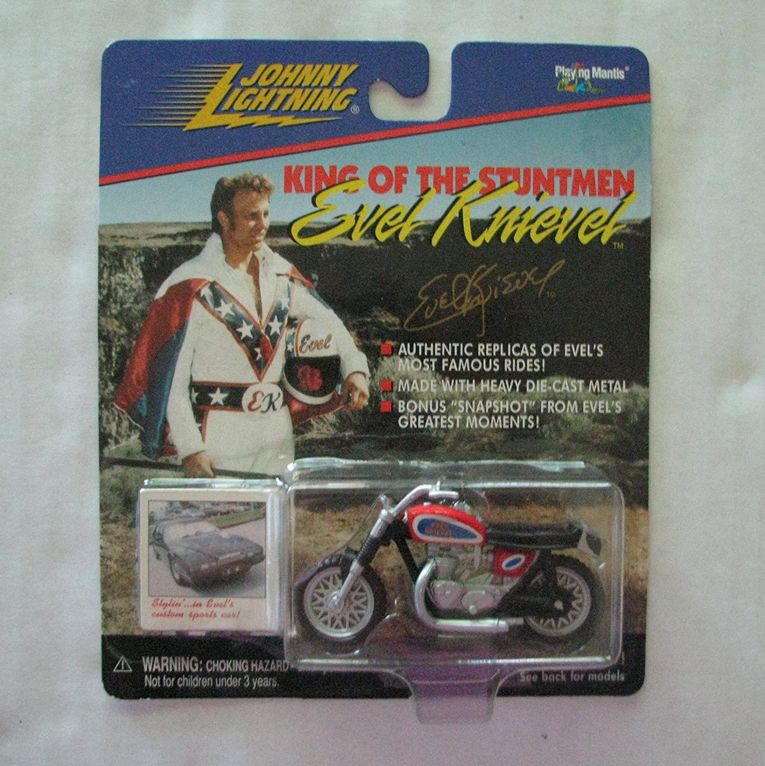 Johnny lightning evel knievel die cast motorcycle
