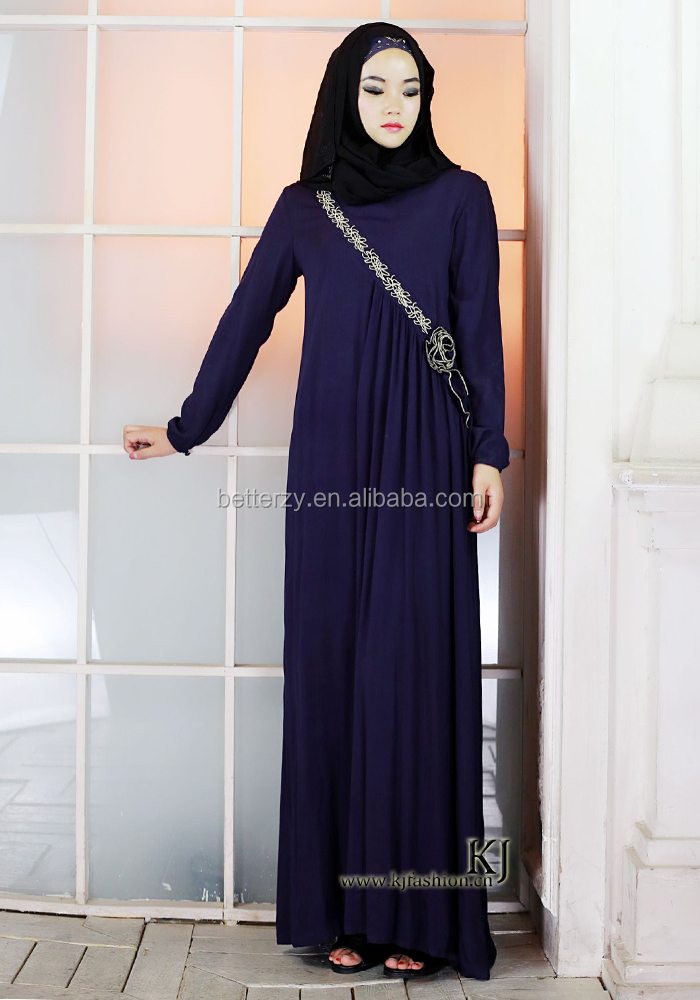 0261 latest design muslim dress cotton embroidery caftans