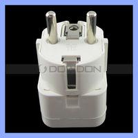 4.8mm Multifunctional US AU UK to Euro Travel Plug Adapter 2 Round Pin European Travel Universal Adapter