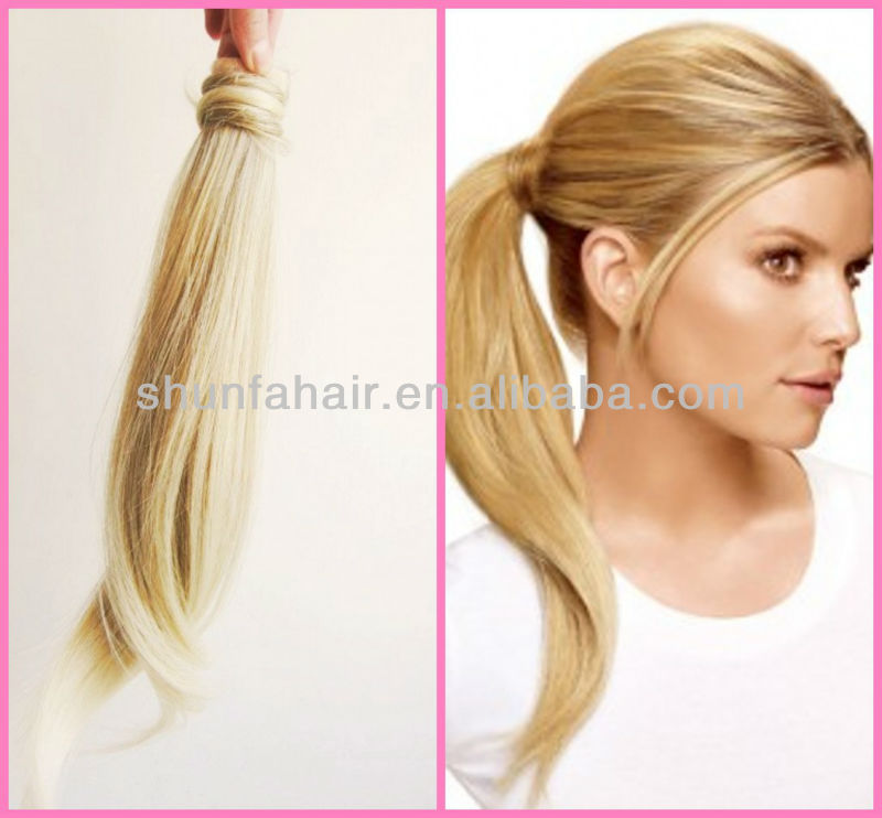 Ponytail Extension Real Hairgoody Ponytail Holderblonde Ponytail