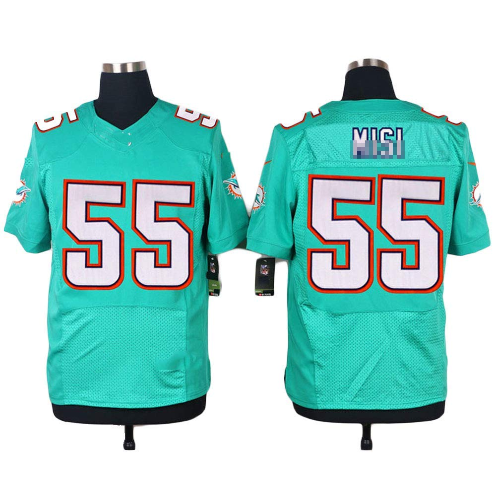 Get Quotations · Fan s Miami  55 Short Sleeve Embroidery Football Jersey -  Elite Edition 84fc02df00f27