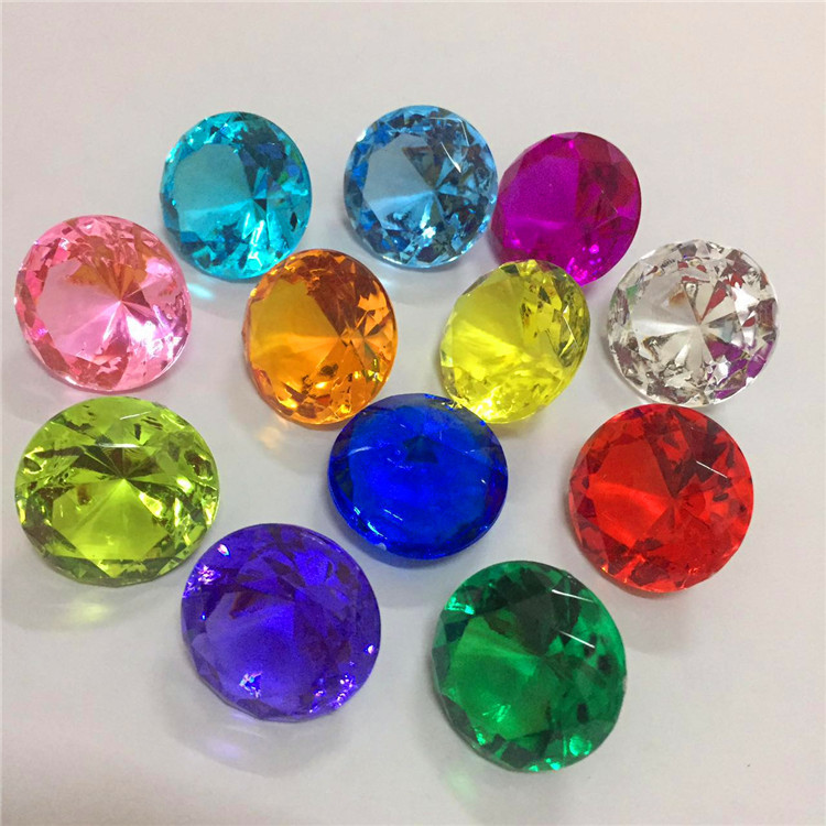 Kinder Bunte 20mm Acryl Kristall Faux Diamant Juwelen Kinder Glück Edelsteine Hochzeit Dekoration Halloween Party Favors