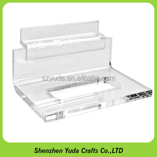 Clear Acrylic Single Plate Display Stand/Holder for Slatwall