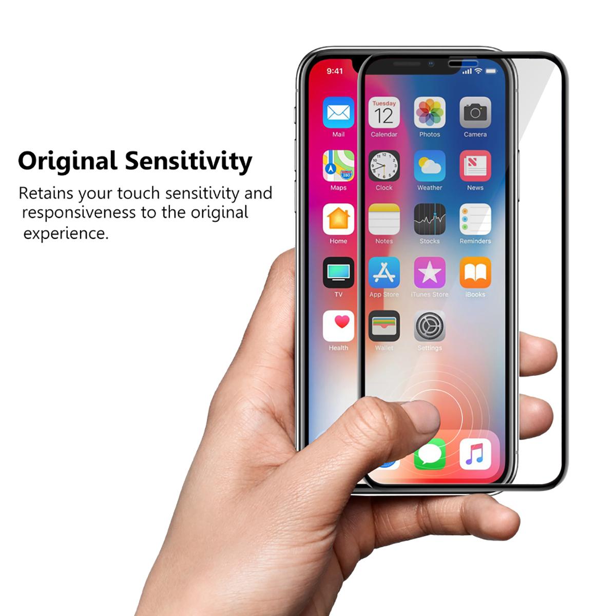 """Para el nuevo iPhone X 5,8 """"6,1"""" 6,5 """"de la cubierta completa mate 9 H 2.5D protector de pantalla de vidrio templado con herramientas de instalación"""