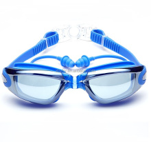 Swimming usage and Anti fog swimming goggles with earplugs