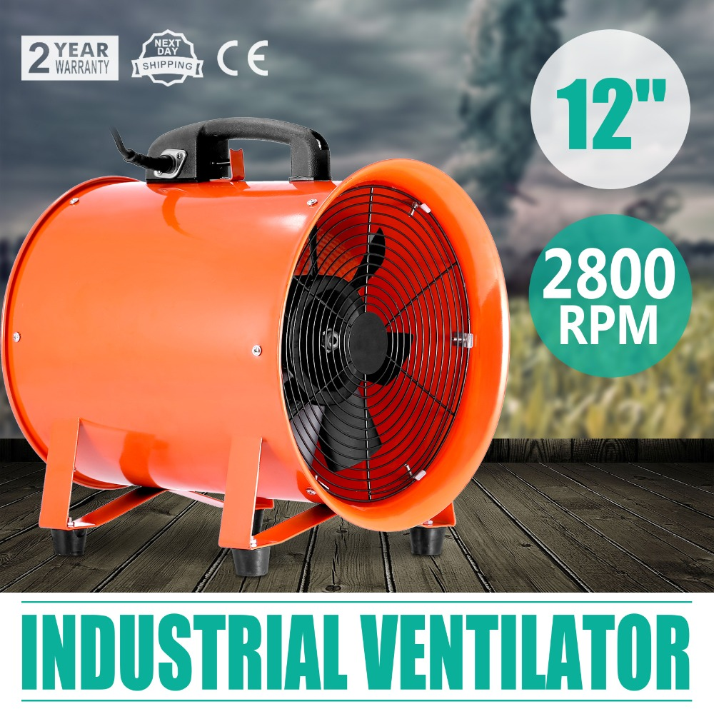 "12"" Portable Industrial Axial Ventilator Blower Workshop Extractor <strong>Fan</strong> 300 mm"