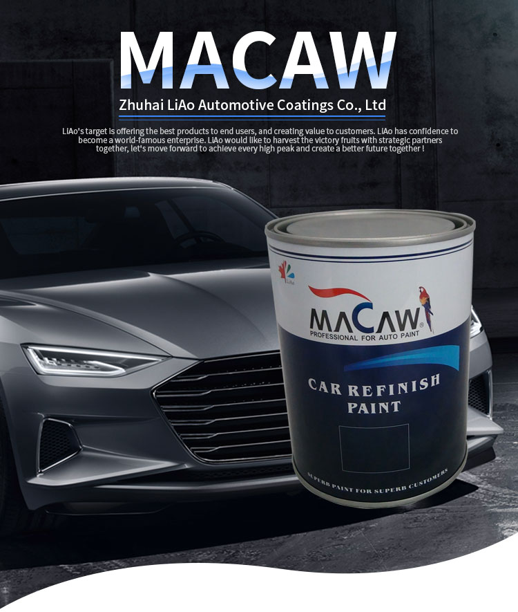 MACAW 1K solid color car paint  WSM47 violet red acrylic basecoat car paint