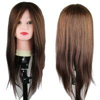 Dreambeauty Real Human Hair Mannequin Training Head 22inch Brown Color Hair