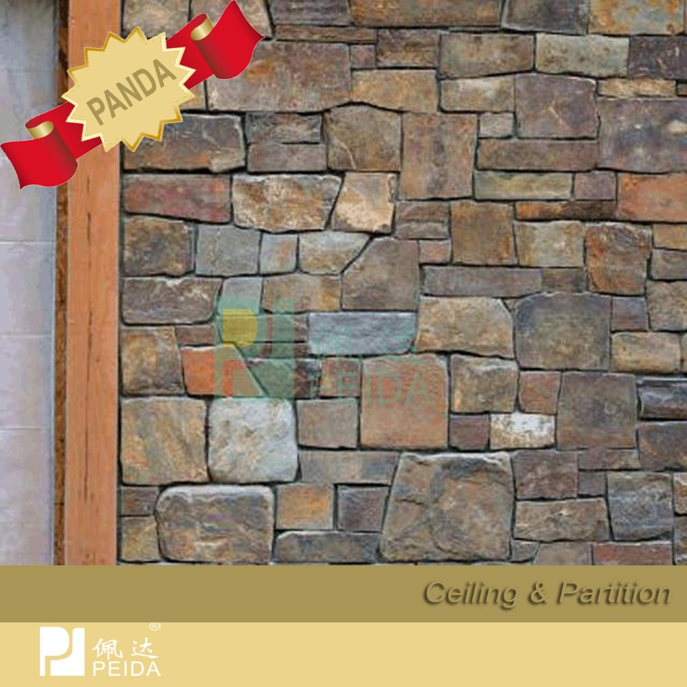 fachada exterior de piedra artificial cultura pared cadding