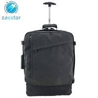 Large Capacity Carry-on Trolley Luggage Backpack Bag with Wheel Cover Traveling Backpack