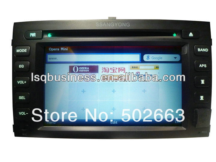 Car Gps Navigation radio Fm smart Tv ipod car Multimedia Player For Ssang Yong Rexton