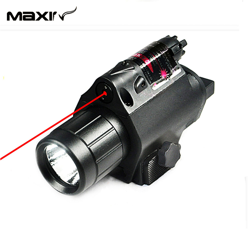 New Tactical Led Flashlight And Red Laser Sight Combo With