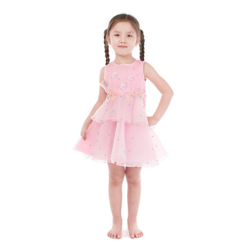 Party Perfect Vintage Aqua Floral Lace Ruffled Dress for Girls
