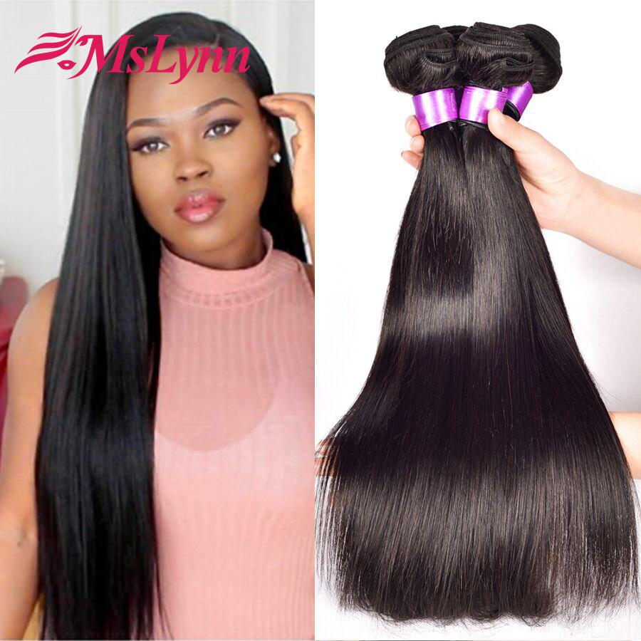 Peruvian Virgin Hair Straight 4 Bundles Peruvian Straight ...