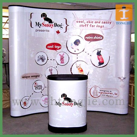 PVC Arc pop up promotional display table