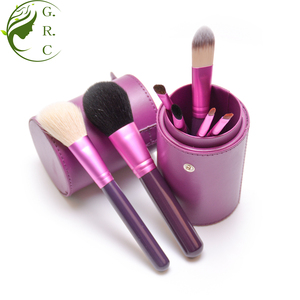 Small travel size 7pcs makeup brush set china cosmetic brush manufacturer