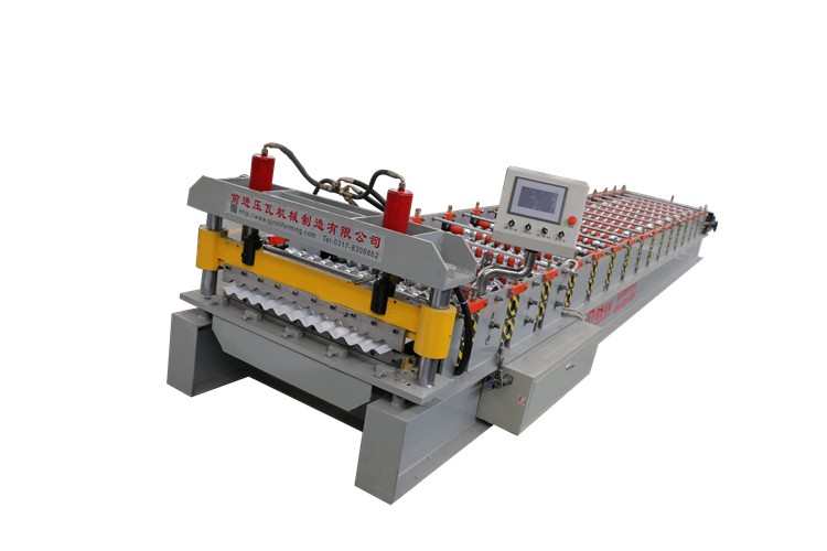 836 Corrugated metal roofing sheet making machine