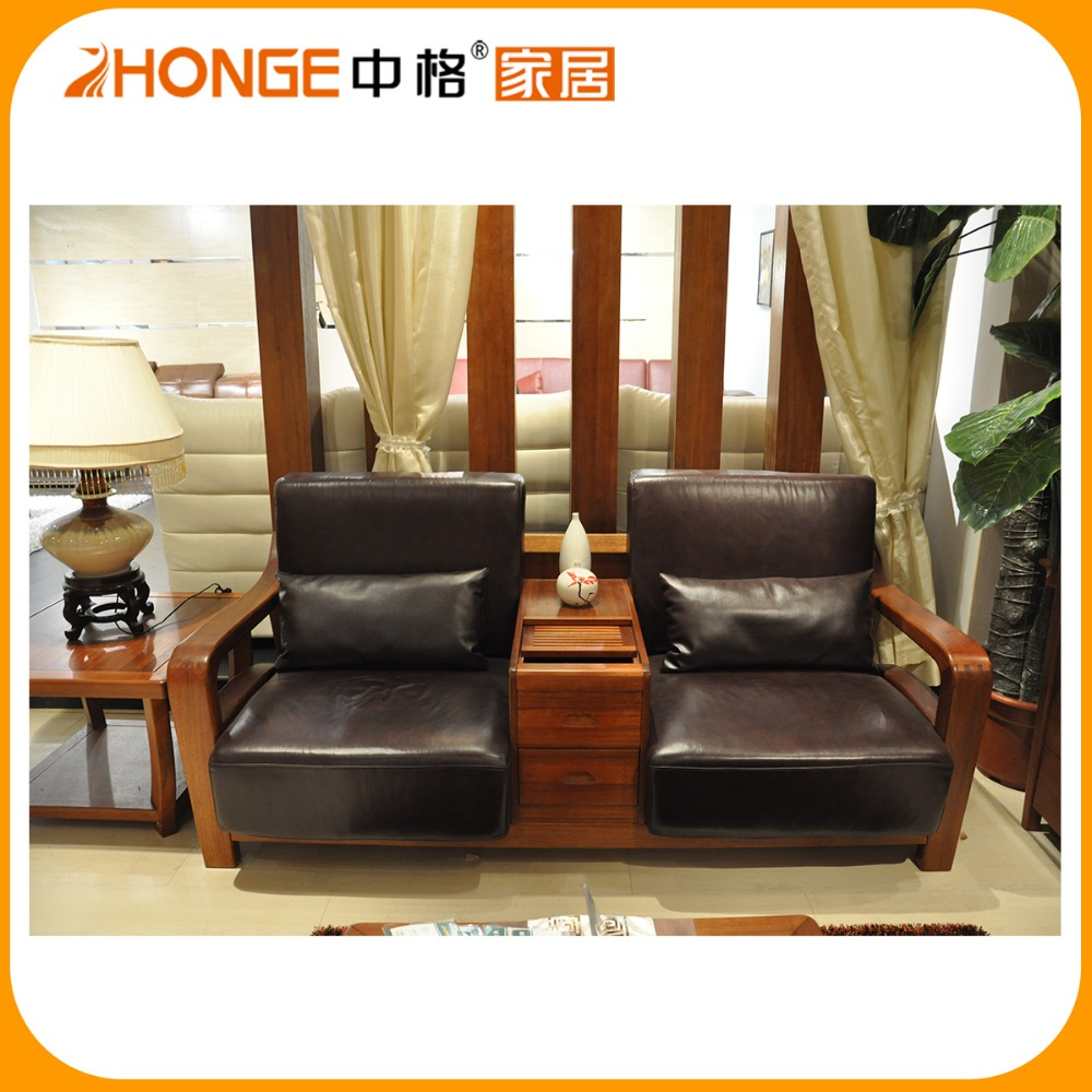 Solid Wood Sofa Sets: 8s001 Solid Wood Living Room Sofa Sets Made In China