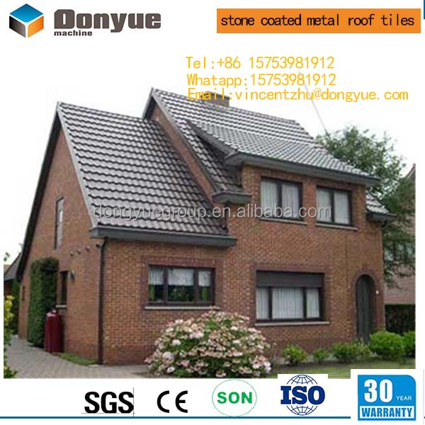 High quality kerala construction material stone sand coated metal roof tile
