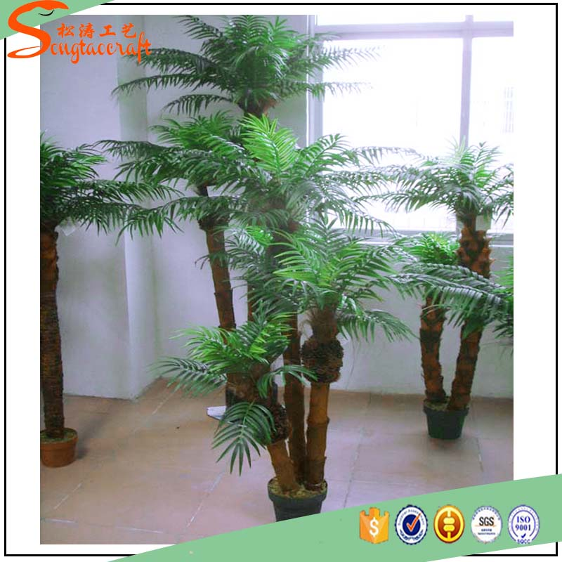 Venda quente vaso de plantas de pl stico phoenix palmeira artificial para a decora o rvores - Plantas de interior baratas ...