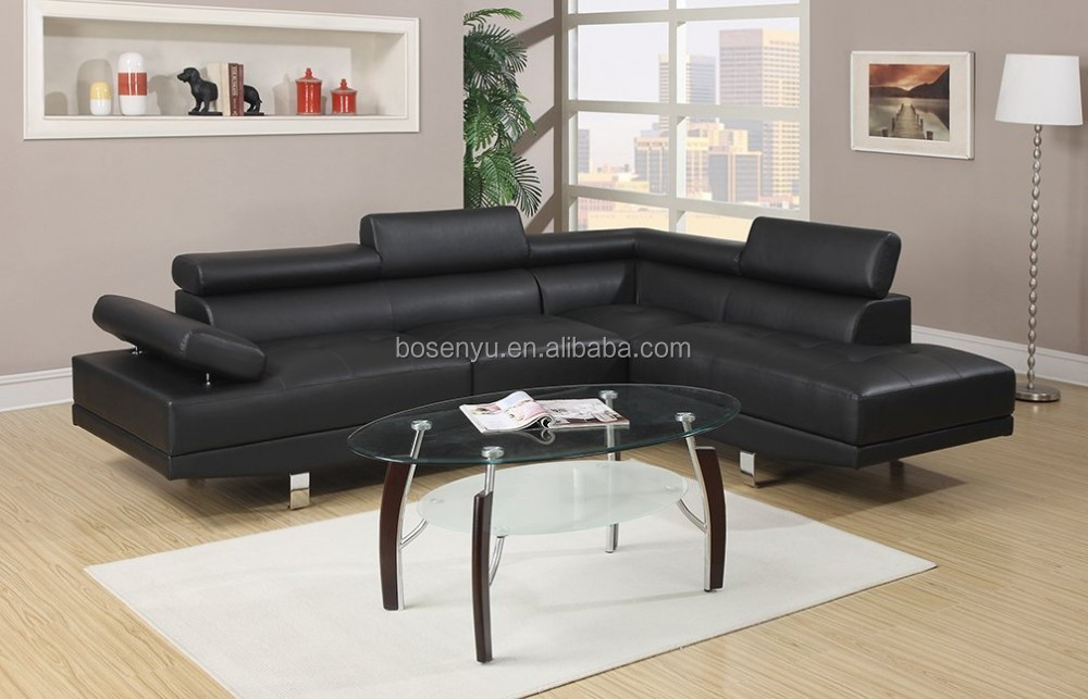 2017 Latest Design Dubai Living Room Furniture Set Leather Corner