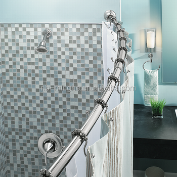 Telescopic Curved Shower Curtain Rod