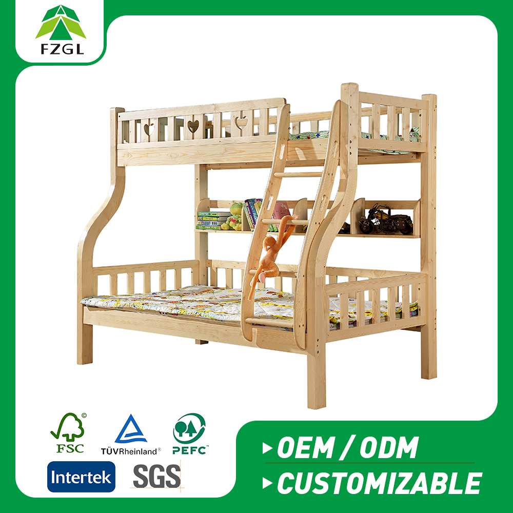 High quality modern solid wood bunk bed for children Home Furniture bunk bed